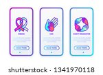 charity concept with thin line... | Shutterstock .eps vector #1341970118