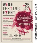 wine tasting invitation card ... | Shutterstock .eps vector #1341970475