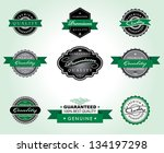 vector illustration of green... | Shutterstock .eps vector #134197298