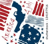 independence day. revolver.... | Shutterstock .eps vector #134197916