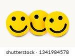 modern yellow laughing three... | Shutterstock .eps vector #1341984578