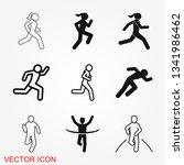 running icon vector sign symbol ...