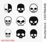 skull icon vector sign symbol... | Shutterstock .eps vector #1341986468