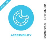 accessibility icon vector from... | Shutterstock .eps vector #1341987305