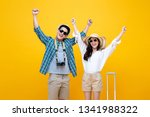 happy smiling young asian... | Shutterstock . vector #1341988322