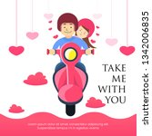 take me with you  a man and his ... | Shutterstock .eps vector #1342006835
