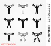 weightlifter icon vector sign... | Shutterstock .eps vector #1342011332