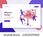 landing page template of... | Shutterstock .eps vector #1342029365