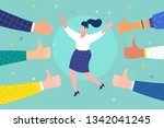 concept of success and public... | Shutterstock .eps vector #1342041245