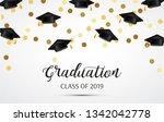 graduation. class of 2019.... | Shutterstock .eps vector #1342042778