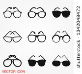 sunglasses icon vector sign... | Shutterstock .eps vector #1342048472