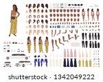 african american woman in... | Shutterstock .eps vector #1342049222