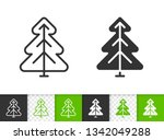 christmas tree black linear and ... | Shutterstock .eps vector #1342049288