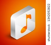 isometric music note  tone icon ... | Shutterstock .eps vector #1342052822