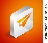 isometric paper plane icon... | Shutterstock .eps vector #1342053572