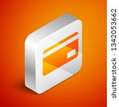 isometric credit card icon... | Shutterstock .eps vector #1342053662