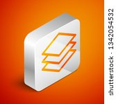 isometric layers icon isolated... | Shutterstock .eps vector #1342054532