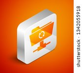 isometric ftp sync refresh icon ... | Shutterstock .eps vector #1342055918