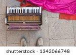 Old Harmonium With Pink Silk.