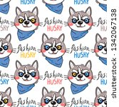 portrait puppys and inscription ...   Shutterstock .eps vector #1342067138