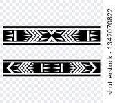 polynesian tattoo sleeve... | Shutterstock .eps vector #1342070822