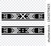 polynesian tattoo sleeve... | Shutterstock .eps vector #1342070825