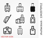 travel bag icon vector sign... | Shutterstock .eps vector #1342070912