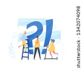giant question mark and... | Shutterstock .eps vector #1342074098
