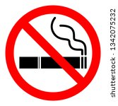 no smoking sign. red... | Shutterstock .eps vector #1342075232