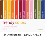 spring summer 2019 color trends.... | Shutterstock .eps vector #1342077635