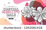 modern template design for mom... | Shutterstock .eps vector #1342081418