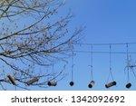 adrenaline park  climbing       ...   Shutterstock . vector #1342092692