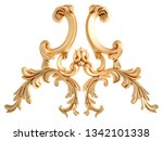 gold ornament on a white... | Shutterstock . vector #1342101338