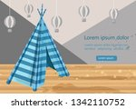 camp tent hovel vector. tent... | Shutterstock .eps vector #1342110752