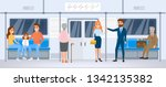 people in public transport....   Shutterstock .eps vector #1342135382