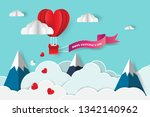 concept of love and valentine... | Shutterstock .eps vector #1342140962