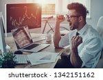 unbelievable growth. happy... | Shutterstock . vector #1342151162