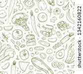monochrome seamless pattern... | Shutterstock .eps vector #1342160822