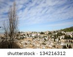View of Albaicin seen from the Alhambra in Granada, Andalusia, Spain - stock photo