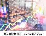 showing the trading graph over... | Shutterstock . vector #1342164092