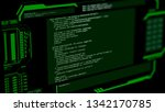 crt monitor with hacking in...