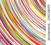abstract art rainbow curved... | Shutterstock .eps vector #134218055