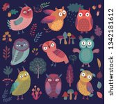 seamless pattern with cute... | Shutterstock .eps vector #1342181612