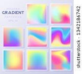 big vector set of textures with ... | Shutterstock .eps vector #1342186742