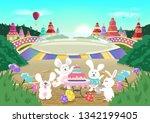 easter birthday  celebration... | Shutterstock .eps vector #1342199405