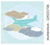 textured vector illustration of ...   Shutterstock .eps vector #134221736