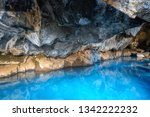 Grjotagja Cave In Iceland With...