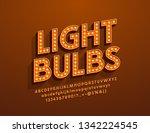 vector light bulbs retro style... | Shutterstock .eps vector #1342224545