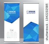 roll up business brochure flyer ... | Shutterstock .eps vector #1342232585