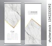 roll up business brochure flyer ... | Shutterstock .eps vector #1342233392